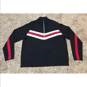 Eddie Bauer Sport Full Zip Wool Sweater Jacket XL